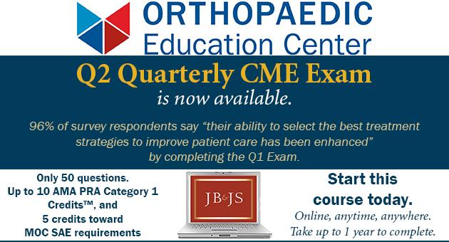 JBJS Q2 Quarterly CME Exam