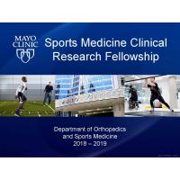 Mayo Clinic Sports Medicine Research Fellowship 2018-2019 | Orthogate