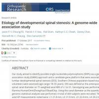 Genetic changes linked with increased risk of lumbar spinal stenosis