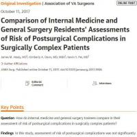 Surgical residents often overestimate risk of complication and death