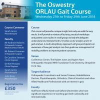 Oswestry ORLAU Gait Course 27-29 June 2018