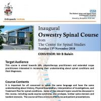 Inaugural Oswestry Spinal Course