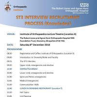 ST3 Interview Recruitment Process (Knowledge) Course; Oswestry