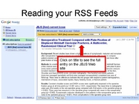 Figure 5. Reading your RSS Feeds