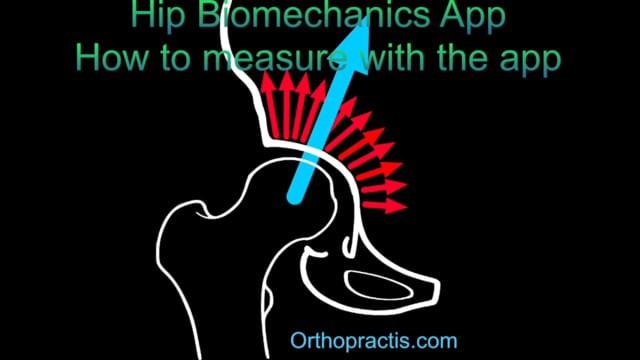 Hip biomechanics app