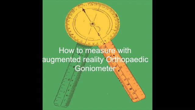 AR Orthopaedic Goniometer
